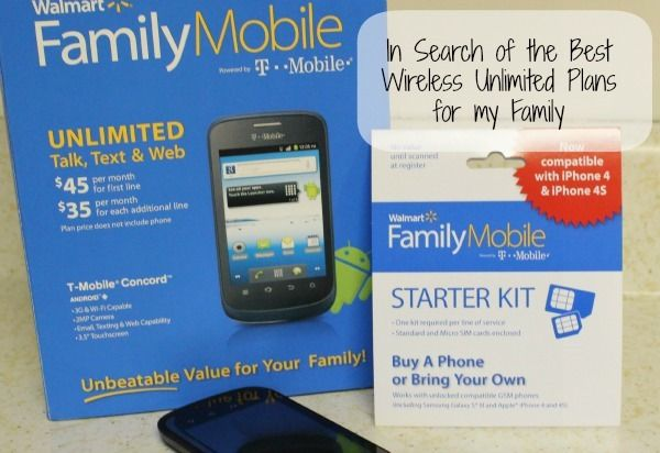 In Search of the Best Wireless Unlimited Plans for my family