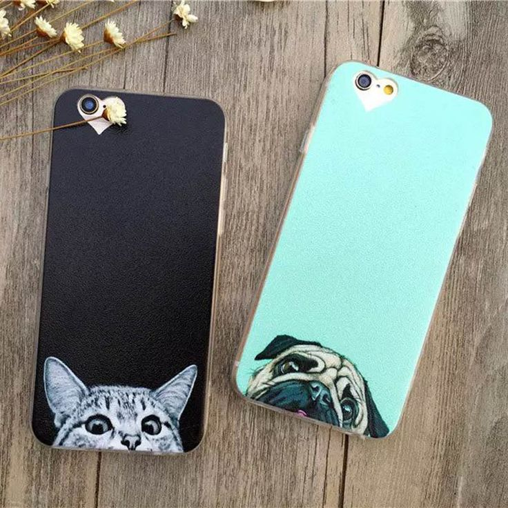 Newest Super Cute Phone Cases for Apple iPhone 6 Case Fashion Luxury Ultra Thin Funny Cat Dog Back Covers For iphone6 6S 4.7inch