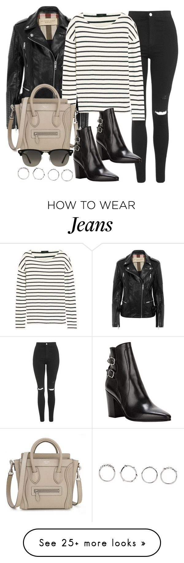 """""""Style #9411"""" by vany-alvarado on Polyvore featuring Burberry, Topshop, J.Crew, Yves Saint Laurent, Ray-Ban and Boohoo"""