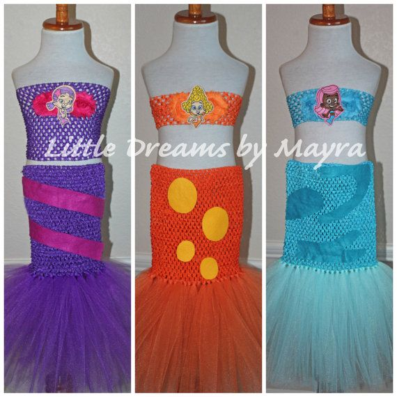 Bubble guppies inspired tutu dress Mermaid by LittledreamsbyMayra