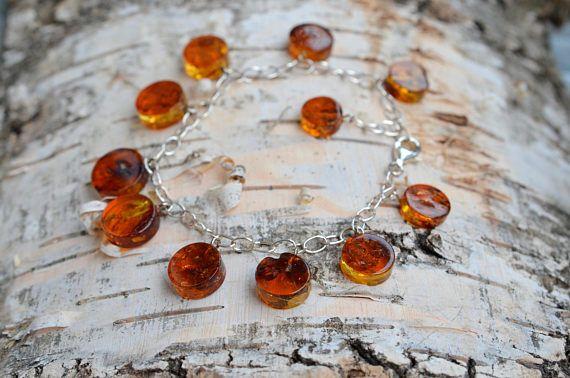 baltic amber bracelet / amber bracelet / amber silver bracelet