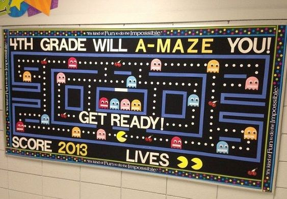 """I would change it to say """"Your Library will A-Maze You!""""  Clever Back to School Bulletin Board Ideas - Crafty Morning"""