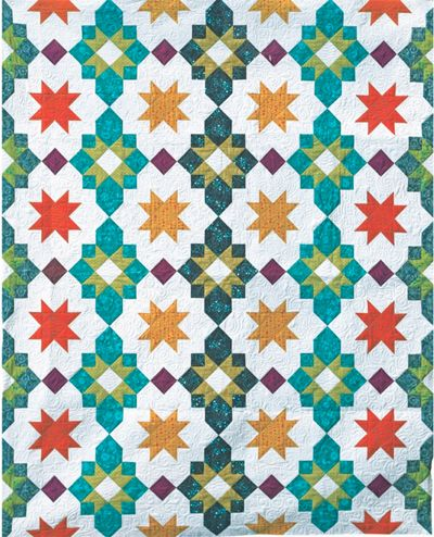 Inspired by a Turkish rug, this pattern brings the glamour of travel to your sewing room! Get an elegant, exotic look using jewel tones and modern prints. This is a hard-copy, paper version of the pat