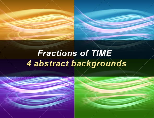 Fractions of Time | 4 abstract backgrounds