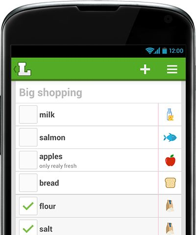 We know what people like - just start typing what you need and see our suggestions. Shopping together? Share a list and shop faster.