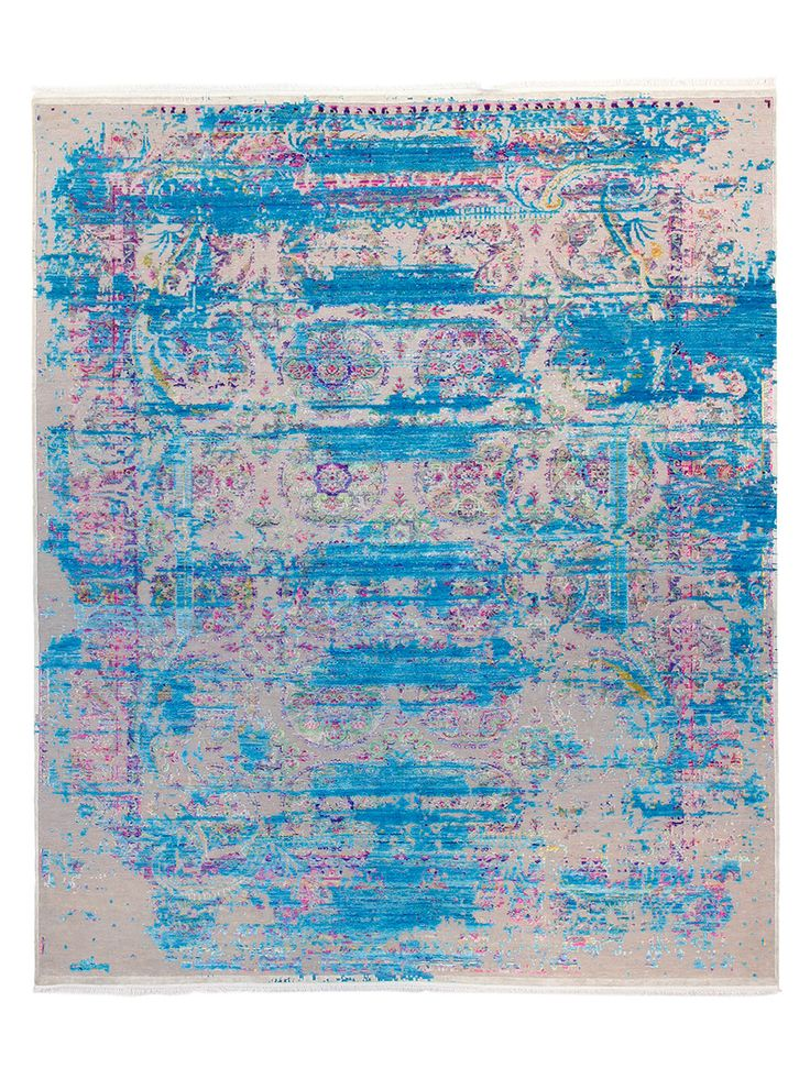 Passion Hand-Knotted Silk and Wool Rug (8'x10') by FJ Kashanian at Gilt