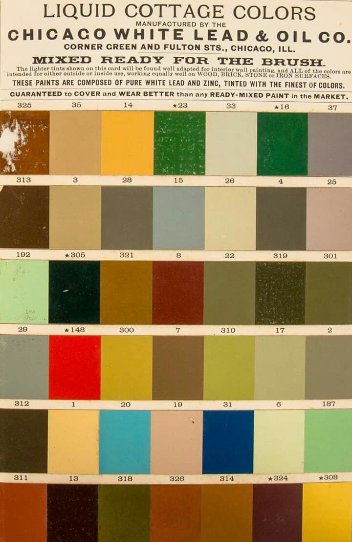 Heavy Card Stock Ads Of Paint Samples From The Chicago White Lead And Oil Company Found In An 1889 Reference Book For Architects Builders