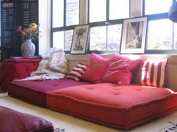 Lounge Pillows For Floor : floor pillow couch / lounge Home Pinterest