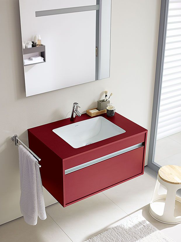 Amazing  Ketho Single Drawer 1200mm Unit With 1300mm Starck 3 Basin  KT6666