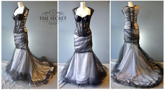 Hey, I found this really awesome Etsy listing at https://www.etsy.com/listing/268774782/gothic-couture-couture-wedding-gothic