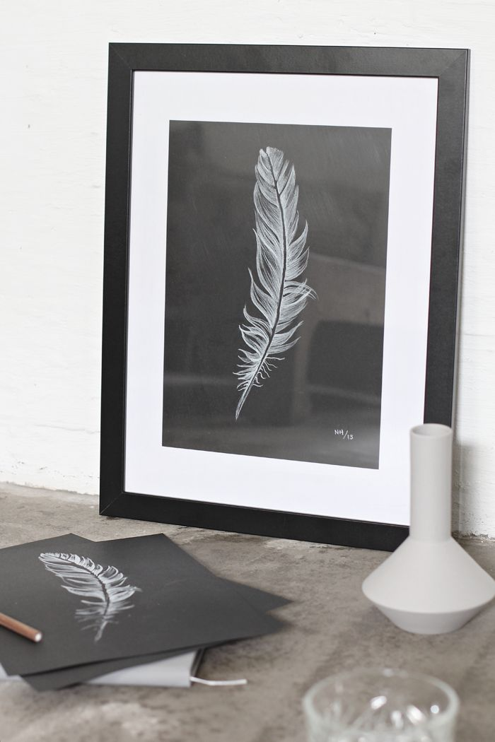 DIY Feather picture - Stylizimo