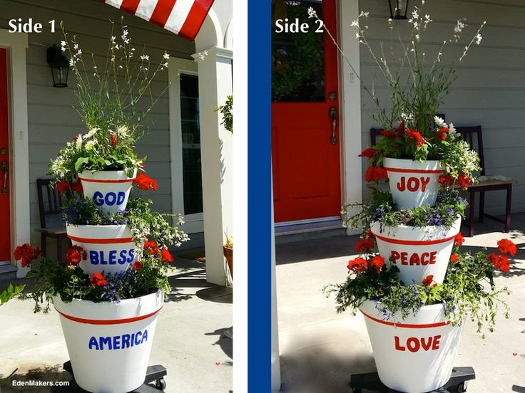 Shirley-Bovshow's double sided stacked container with holiday messages EdenMakers.com