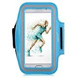 iXCC Trek Series Easy Fitting Sport Gym Running Armband with Dual Arm-Size Slots for Samsung Galaxy S6, MP3 Player - Blue
