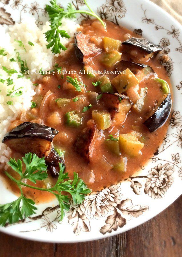 The Culinary Tribune › Eggplant Gumbo<br>茄子のガンボ