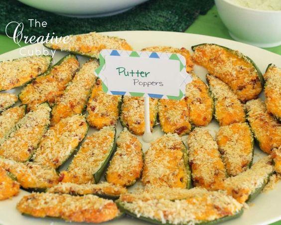 Putter pops golf party food