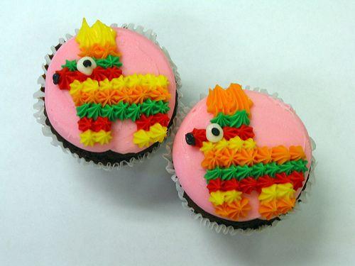 Pinata Cupcakes for Cinco de Mayo