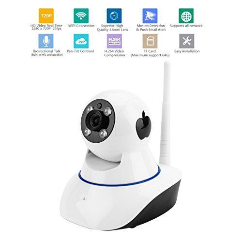 Aixntech 720P Wireless IP Camera with Remote Pan/Tilt2 Way AudioNight Vision and Motion Detection For Smart Home Security Surveillance Camera System https://wirelesssecuritycamerasusa.info/aixntech-720p-wireless-ip-camera-with-remote-pantilt2-way-audionight-vision-and-motion-detection-for-smart-home-security-surveillance-camera-system/ #smarthomecamera