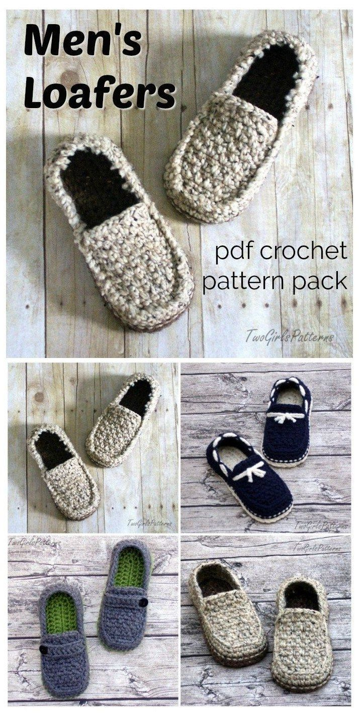 Crochet For Men Crochet Mens Slippers Father S Day Is Coming Up Pretty Fast So If You Re Focused Crochet Shoes Pattern Crochet Shoes Mens Slippers Crochet