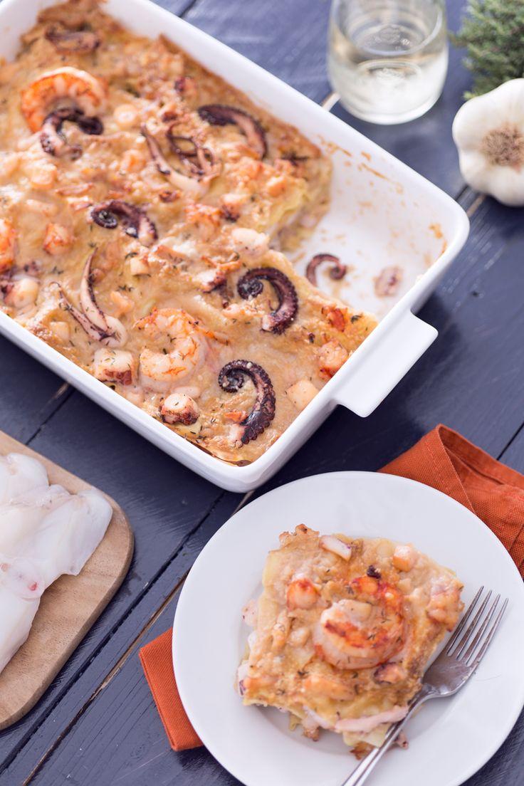Lasagne di pesce: scopri la nostra variante mediterranea alla classica lasagna. [Seafood lasagna]