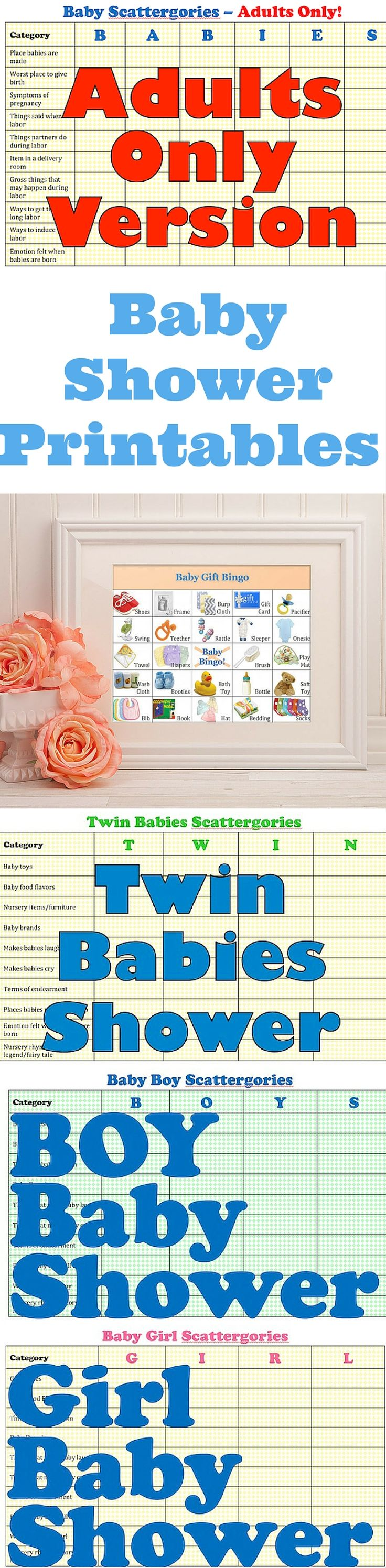 Free Printable Baby Shower Bingo Cards   Up To 80 Different Cards!