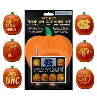 North Carolina Tar Heels (UNC) Pumpkin Carving Kit