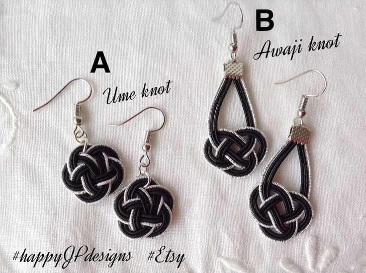 Excited to share the latest addition to my #etsy shop: Black and silver earrings, japanese design, mizuhiki cord hand knotted http://etsy.me/2EjIGmy #jewellery #earrings #black #silver #dangling #japanese #cute #lightweight #asianknot