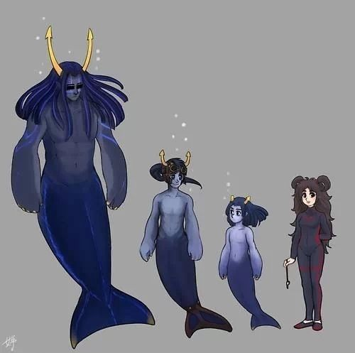 """Genus """"Zahhak."""" These are generally peaceful creatures despite their immense strength, and are often observed using tools, unlike most underwater creatures. (source: salihombox.tumblr.com)"""