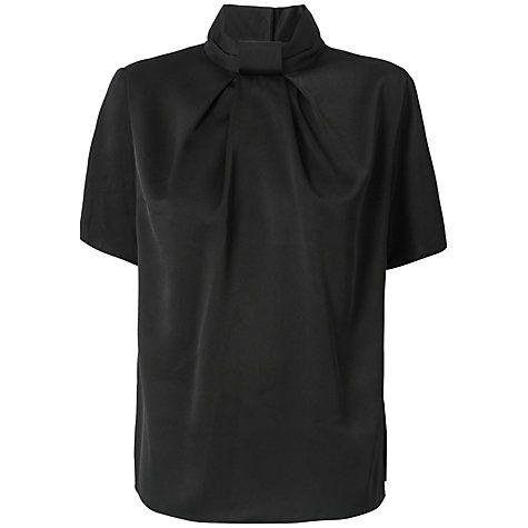 £15 Buy Almari Pleat Neck Collar Blouse, Black Online at johnlewis.com