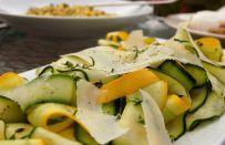 Insalata di zucchine in carpaccio