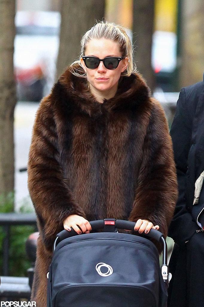 Sienna Miller walking in NY