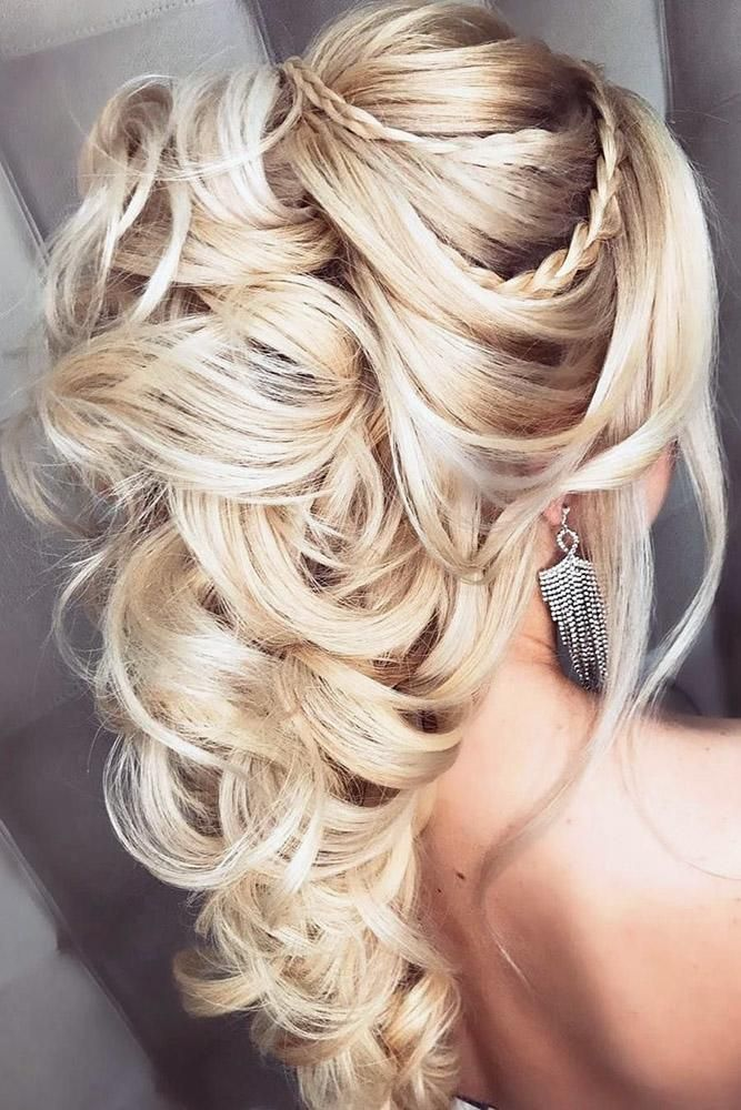 45 Perfect Half Up Half Down Wedding Hairstyles Long Hair Styles