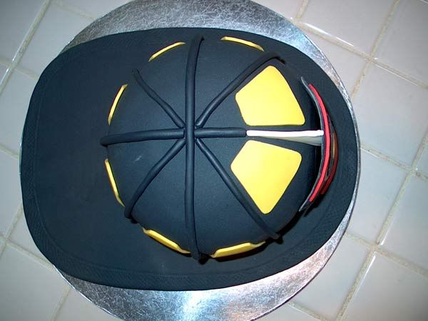 How To Make a 3D Fire Helmet Cake - Cake Central Community