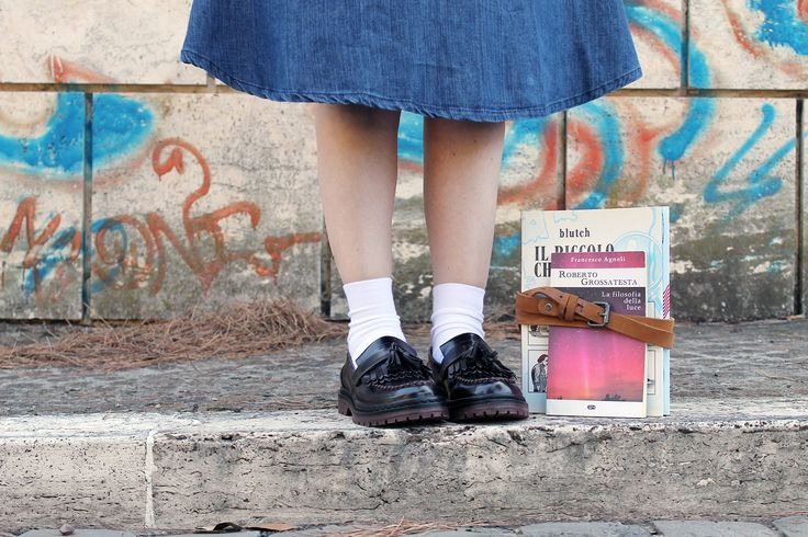 Il+mio+ritorno+a+scuola:+Back+To+School+Outfit #shoes #fringes #mocassini #derbies #oxford #outfit #streetstyle #blogger #dressingandtoppings #melaniamigliozzi #backtoschool #