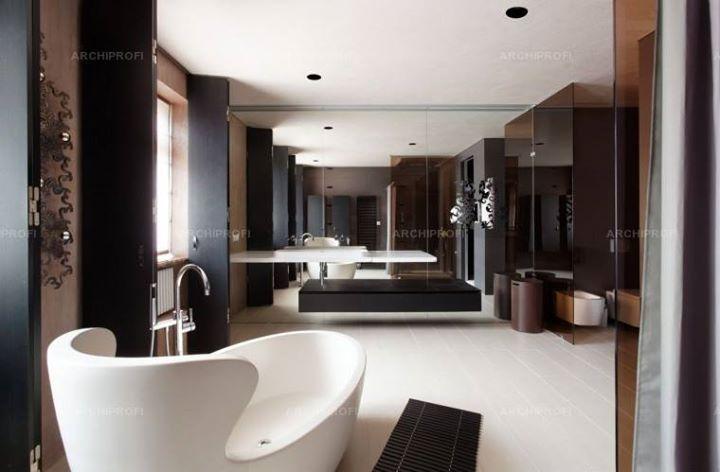 Архитекторы о дизайне ванной комнаты (4 фото).  Когда ванна становится частью спальни...http://archiprofi.ru/blog/detail/arkhitektory-o-dizayne-vannoy-komnaty/