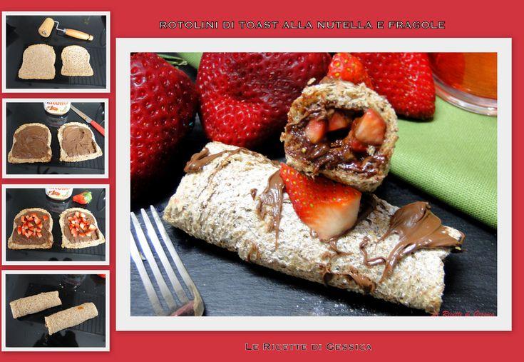 Rotolini di Pancarrè con Nutella e Fragole