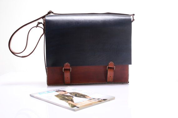 Leather Shoulder Bag Macbook Pro 15Size by agarapatidesign on Etsy