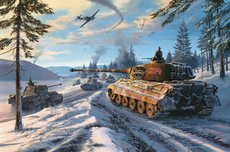 King Tiger's in the Ardennes, 1944.