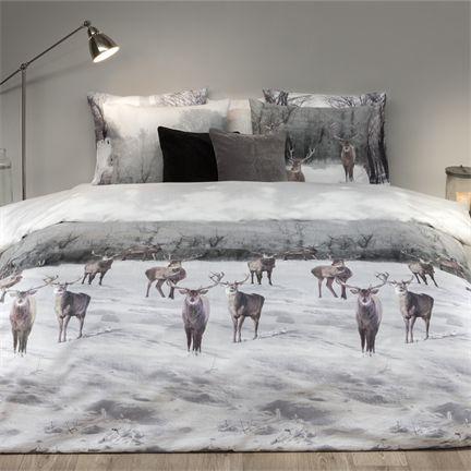 Een betere wintersfeer kan bijna niet, #Refined #Elk flanel dekbedovertrek, www.smulderstextiel.nl