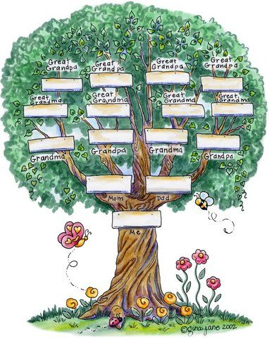 one branch family tree chart template   Family Tree