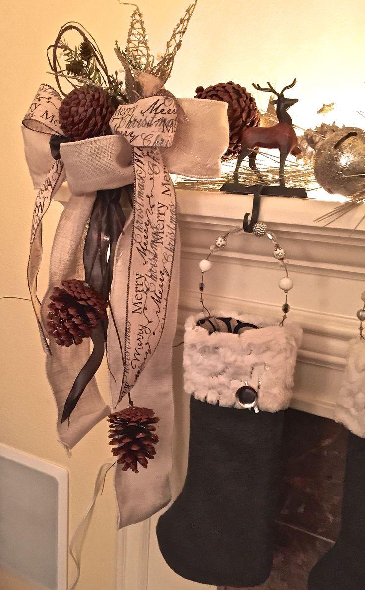 Grey wool felt stockings