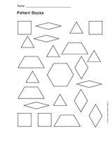 pattern blocks for my snowflake activity.