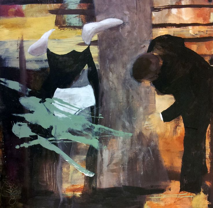 TITTERN BY ANNE-BRITT KRISTIANSEN  #fineart #art #painting #kunst #maleri #bilde  https://annebrittkristiansen.com/paintings/2013/