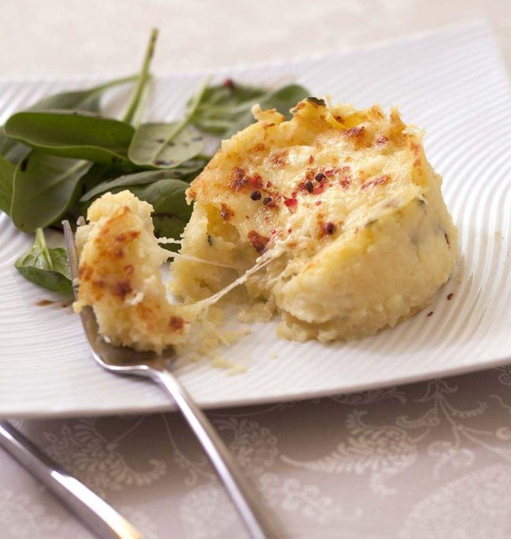 Moelleux aux pommes de terre, menthe et mozzarella