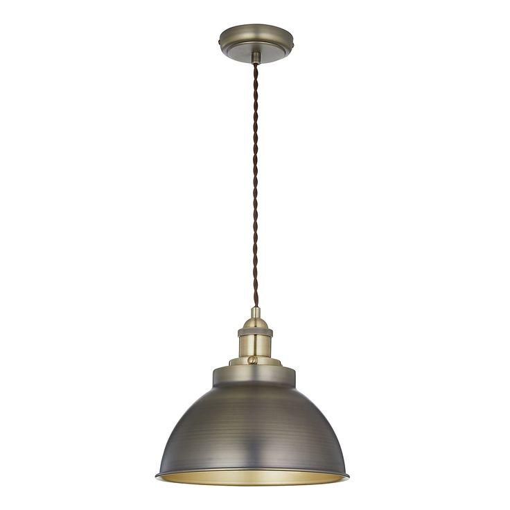 John Lewis Baldwin Pendant Ceiling Light Antique Brass Diameter 25cm