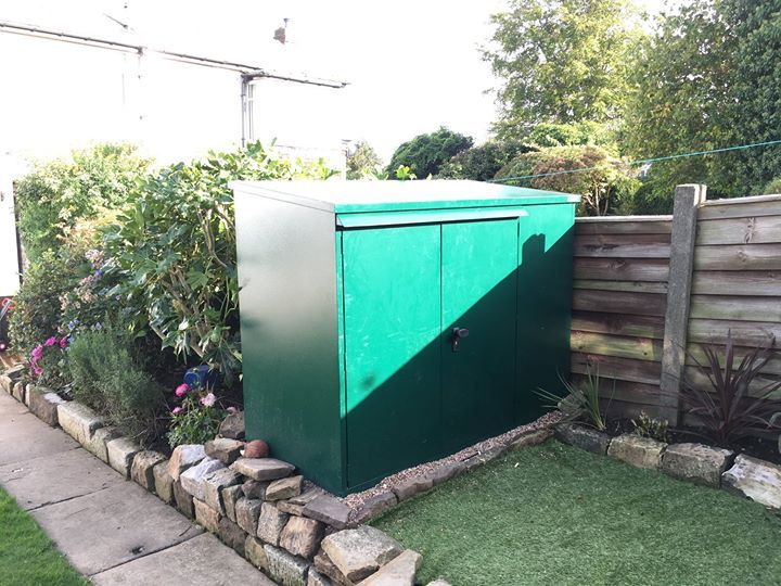 Thanks to Russ for sending in this photo of his newly built Asgard Bike Shed x 3. - http://ift.tt/1HQJd81