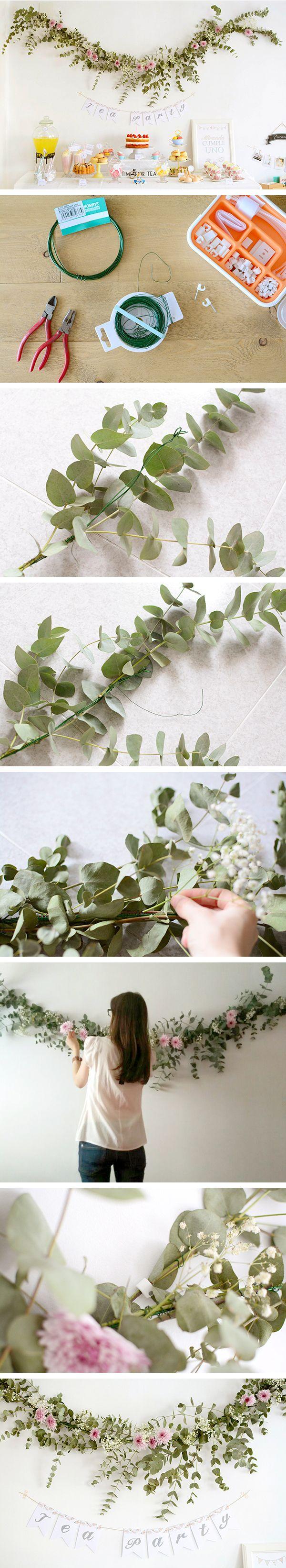 DIY: Flower garland - Guirnalda de flores naturales