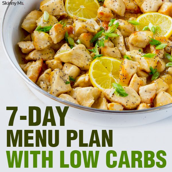7-Day Menu Plan with Low Carbs