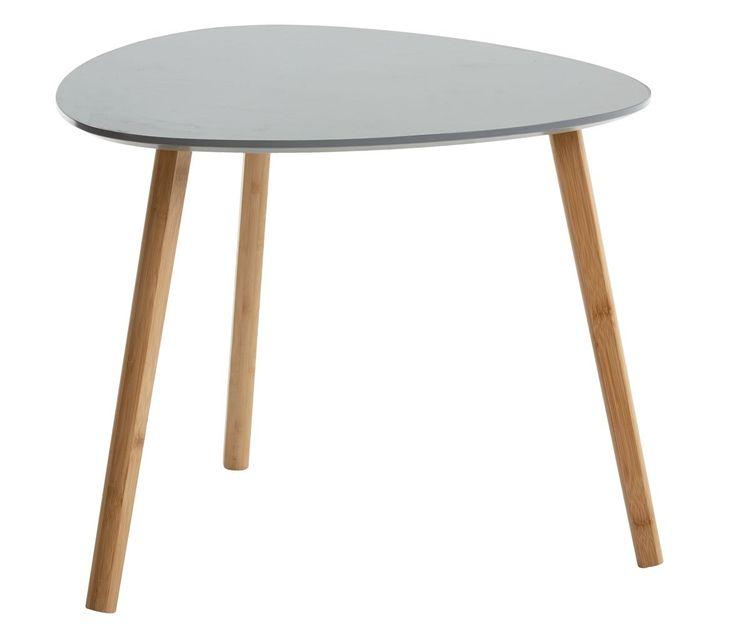 Odkládací stolek TAPS L šedá/bambus | JYSK