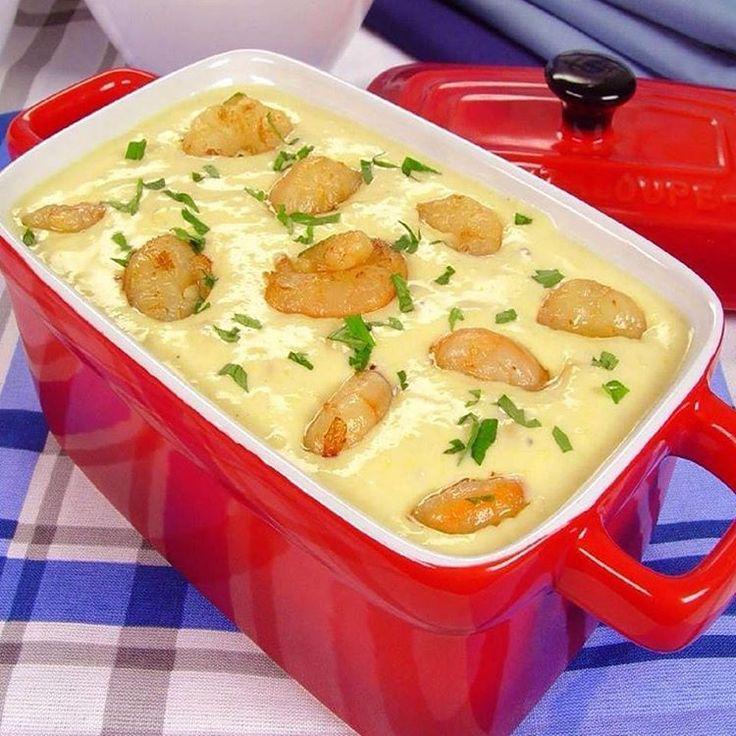 """2,462 Gostos, 13 Comentários -  Receitas Basicas  ❤ (@receitas_basicas) no Instagram: """"Creme de milho com camarão❤  Ingredientes:  4 xícaras (chá) de leite 2 colheres (sopa) de farinha…"""""""