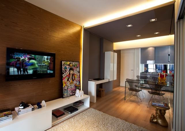 Small 45sqm apartment, great, inviting style